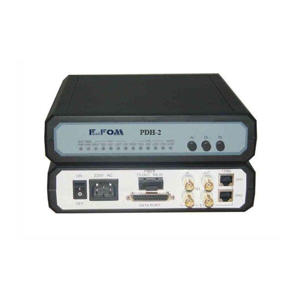 2 ports E1 v.35 v.24 fiber optic modem PDH-2